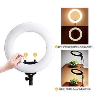 Video Ls Sonia Studio Stand Tolifo 250 Color R25b 14 Lamp Photography Led Ring Bi Inch With Light shdCtrQx