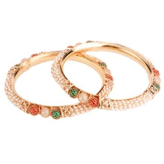 Efulgenz Wedding Jewellery Traditional Ethnic Gold Plated Pearl