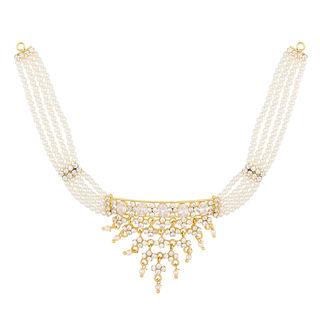 Efulgenz Gold Plated Traditional Designer Wedding Wear Pearl