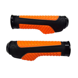 Speedy Riders Bike Moxi Handle Grip Set Of 2 Black & Orange Color