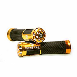 Speedy Riders Bike Monster Rubber Comfort Riding Soft Grip Cover Set of 2 Golden Color
