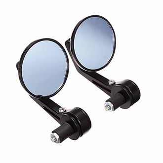 Speedy Riders Handle Bar End Mirror Rear View Mirror Round for Royal Enfield