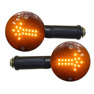 Speedy Riders Full Black LED Indicators Set of 2 for Royal Enfield