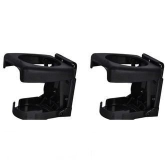 Speedy Riders Foldable Car Drink Can Bottle Holder Set Of 2 BLACK for All Cars