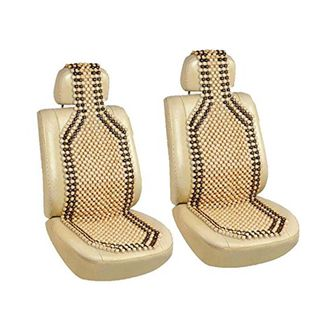 Speedy Riders Car Wooden Bead Seat Acupressure Design Universal Size Set of 2 for All Cars