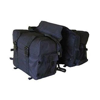 Customized Side Hanging Saddle Bag For Touring Black For Royal Enfield Harley Davidson