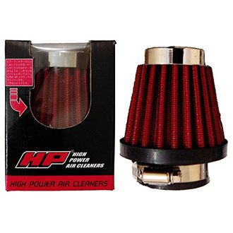Speedy Riders Premium Quality Hp High Power Cotton Type 42 mm size Air Filter Red Color For All Bikes