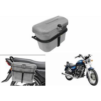 Speedy Riders Bike Side Luggage Box Silver For All Bikes