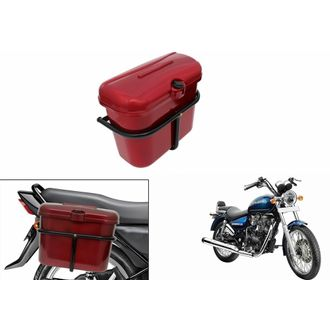 Speedy Riders Bike Side Luggage Box Red For All Bikes