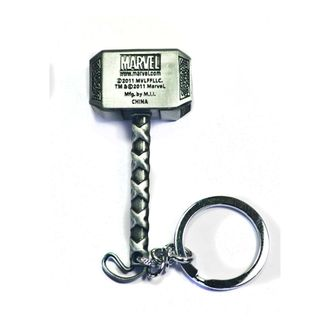 Speedy Riders Thor Hammer Metal Keychain Assorted for Cars and Bikes