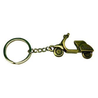 Speedy Riders Metal Keychain Scooter Design For Cars and Bikes