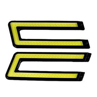 Speedy Riders Slim U Shape Daytime LED DRL Lights White Color Set Of 2 For All Cars