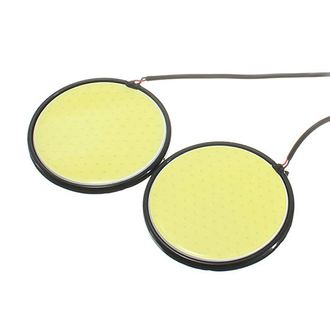Speedy Riders Car Round 2.5 Inches COB LED DRL White Set of 2 For All Cars