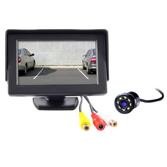 Speedy Riders 4.3 Inches LCD TFT Monitor & LED Reverse Parking Camera For All Cars