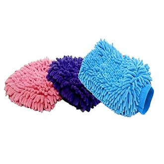 Speedy Riders Microfiber Glove Mitt For Car Cleaning Washing Set of 3 For All Cars