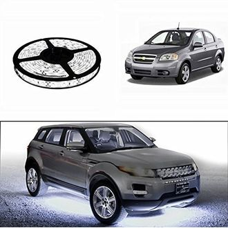 Speedy Riders 5 Meters Waterproof Cuttable LED Lights Strip Roll White Color For All Cars