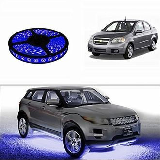 Speedy Riders 5 Meters Waterproof Cuttable LED Lights Strip Roll Blue Color For All Cars