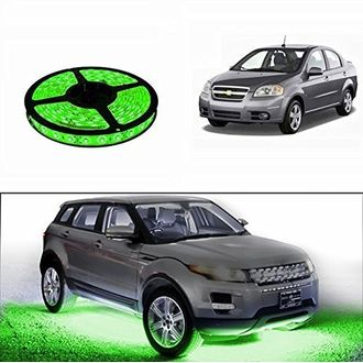 Speedy Riders 5 Meters Waterproof Cuttable LED Lights Strip Roll Green Color For All Cars