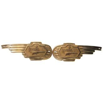 Speedy riders Brass Bike Petrol Monogram Set Of 2 Royal Enfield