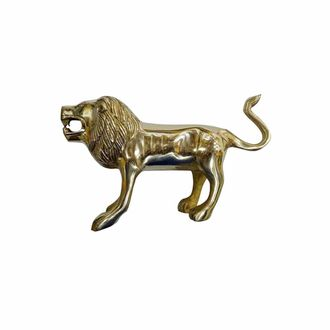 Speedy riders Brass Standing Lion Up Tail For Front Mudguard For Royal Enfield