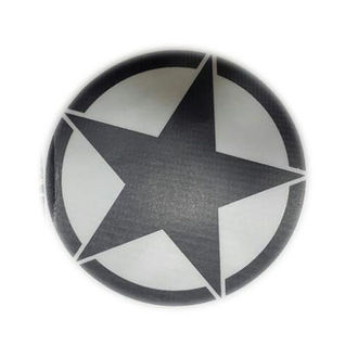 Customized Star Black Color Sticker for All Bikes