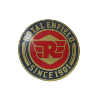 Customized  Royal Enfield Logo Since 1901 Red & Golden Sticker for Royal Enfield