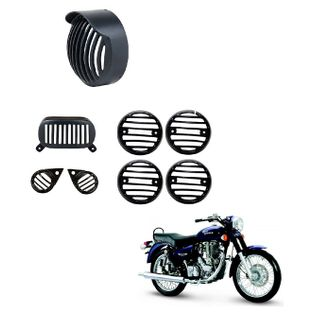 Speedy Riders Combo Offer Complete Set Cap Headlight Grill For Royal Enfield Electra