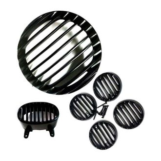 Speedy Riders Combo Offer Complete Set Headlight Grill For Bajaj Avenger