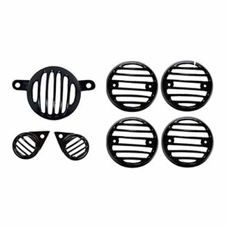 Speedy Riders Combo Offer Complete Set Indicator with Parking Light Grill and Tail Light Grill For Royal Enfield Classic