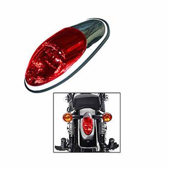 Speedy riders Long Red Glass Bike Tail / Brake Light for Royal Enfield
