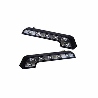 Speedy riders Mercedes Benz Style L-Shaped 6 LED DRL White (Set of 2) for All Cars