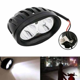 Speedy riders Single White Auxillary Cree 20 Watts Fog Light / Work Light Bar Spot Beam Off Road Driving Lamp  for All Bikes