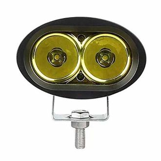 Speedy riders Single Yellow Auxillary Cree 20 Watts Fog Light / Work Light Bar Spot Beam Off Road Driving Lamp  for All Bikes