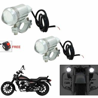 Speedy riders Pair U1 Auxillary Fog Light / Work Light Bar Spot Beam Off Road Driving Lamp With ON/OFF Switch Free for All Bikes