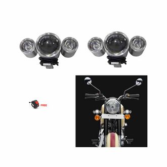 Speedy riders Pair U10 Auxillary Fog Light / Work Light Bar Spot Beam Off Road Driving Lamp With ON/OFF Switch Free for All Bikes