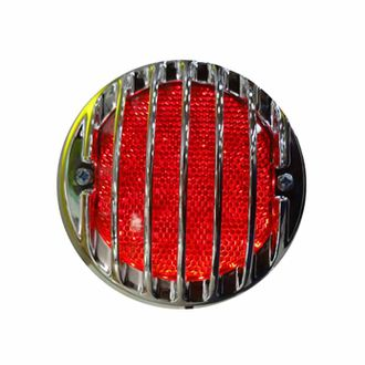 Speedy riders Round LED Brake Light with Chromed Grill with Chromed Grill for Royal Enfield Classic