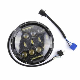 Speedy riders Single Unit 7 inch 13 LED Headlight With DRL Multi-Beam Low / High for Royal Enfield