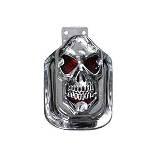 Speedy Riders Chrome Skull Bike Tail Light Assembly For Royal Enfield