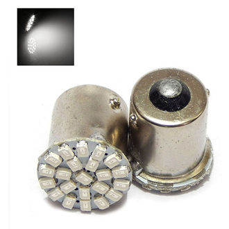 Speedy Riders 22 smd Front & Back Turn Indicator White Color Led Lights For Royal Enfield (2 Pieces)
