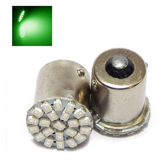 Speedy Riders 22 smd Front & Back Turn Indicator Green Color Led Lights For Royal Enfield (2 Pieces)