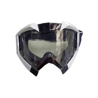 Speedy Riders Vega Motorbike Motocross ATV / Dirt Bike Racing Transparent Goggles with Adjustable Strap (Grey) for All Bikes