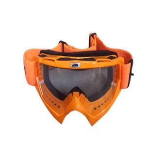 Speedy Riders KTM Motorbike Motocross ATV / Dirt Bike Racing Transparent Goggles with Adjustable Strap (Green) - KTM Bikes