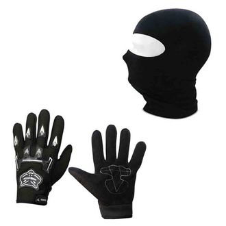Speedy Riders Combo Offers Knighthood 1 Pair of Hand Grip Gloves + Stretchable Alpine Star Face Mask (Free Size)