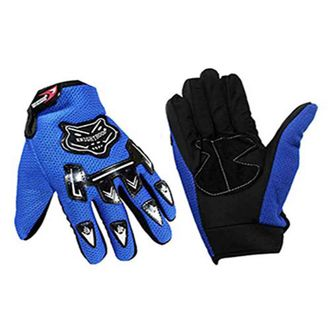 Speedy Riders Knighthood 1 Pair of Full Hand Grip Gloves for Bike Motorcycle Scooter Riding - Blue Colour