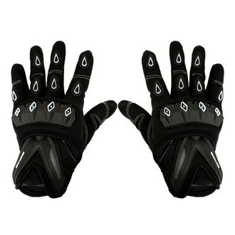 Speedy Riders Scoyco MC10 Full Finger Armoured Motorcycle Riding Gloves Black and White Color