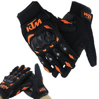 Speedy Riders KTM Gloves KTM Bike Riding Gloves Orange and Black Color