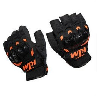 Speedy Riders KTM Gloves KTM Bike Riding Half Finger Gloves Orange and Black Color