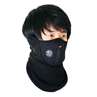 Speedy Riders Neoprene Anti Pollution Bike Face Mask/Neck Warmer Bike Riding Mask Black Color