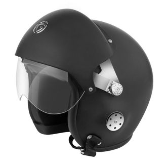 Speedy Riders Gliders Helmet Pilot Open Face Matt Black Color Large Size