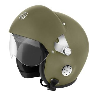 Speedy Riders Gliders Helmet Pilot Open Face Battle Green Color Large Size